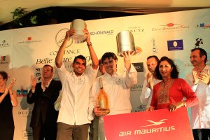 The winners of the 6th Bernard Loiseau Culinary Festival - Serge and Harrish