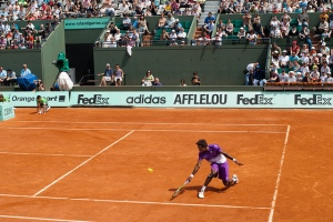 Tennis player at French Open 2011
