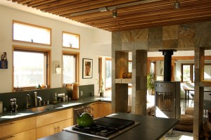 Contemporary kitchen dining room