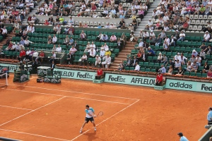 Tennis player at French Open 2011, Roland Garros stadium