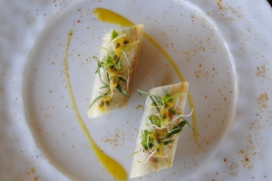 Smoked marlin and heart of palm from Constance Hotels Experience