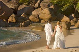 Wedding day on the beach at Constance Lemuria