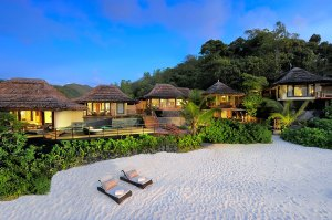 Presidential villa and beach at Lemuria
