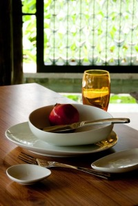 Tableware at Constance Ephelia Resort, Seychelles