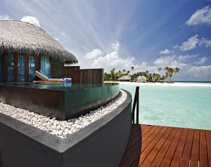 Water villa at Constance Halaveli, Maldives